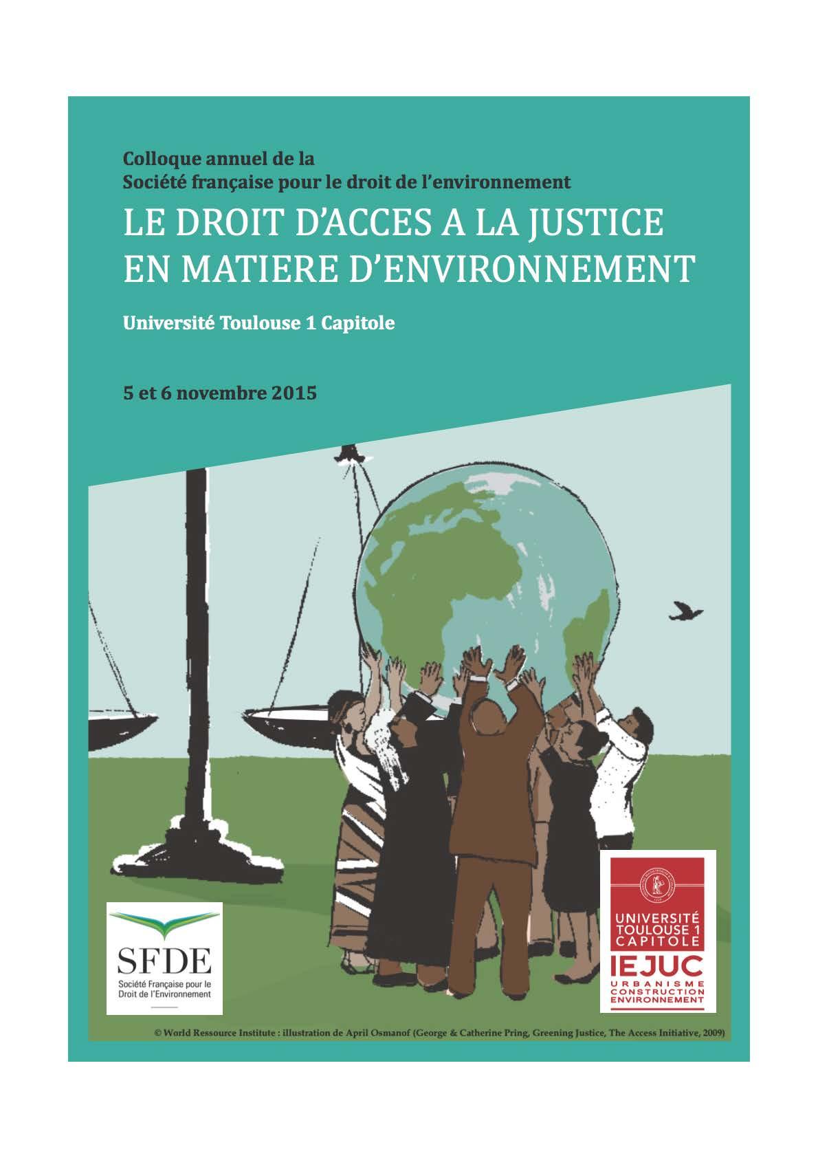 Visuel du colloque annuel de la SFDE - IEJUC à Toulouse les 5 et 6 novembre 2015